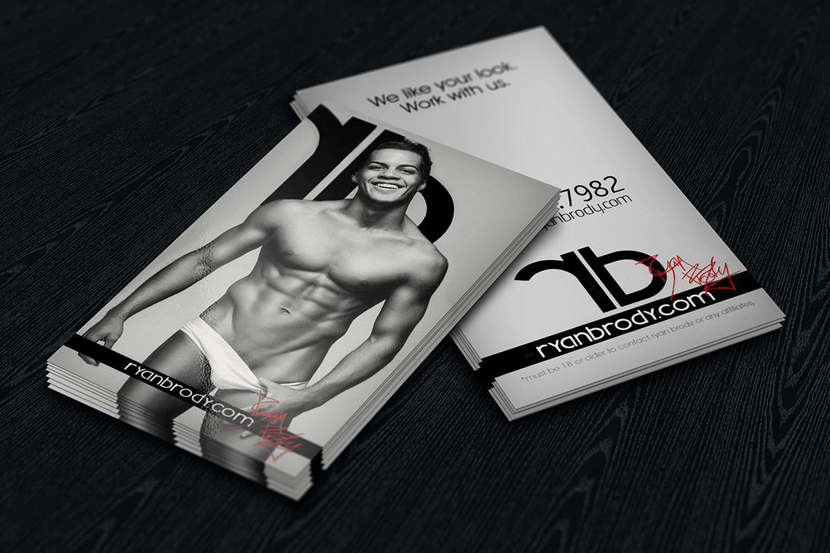 Ryan Bordy business cards front and back